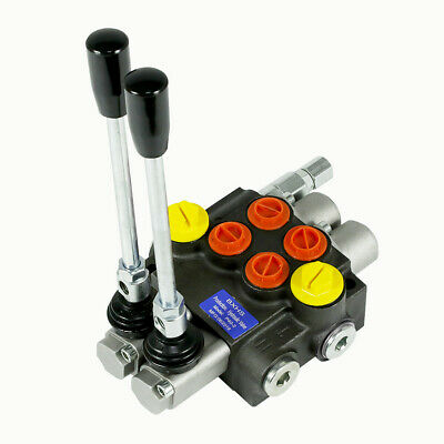 2 Spool Hydraulic Directional Control Valve 13gpm Small Tractors 50lmin 3600psi