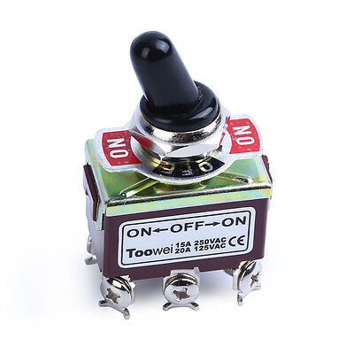 Heavy Duty 20a 125v Dpdt 3 Position 6 Terminal Onoffon Toggle Switch With Boot