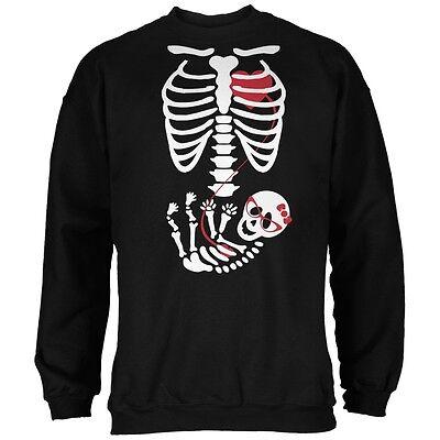 Halloween Baby Geek Girl Glasses Skeleton Black Adult Sweatshirt