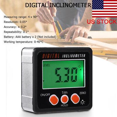 Precision Digital Protractor Gauge Angle Finder Inclinometer Magnet Base Ps