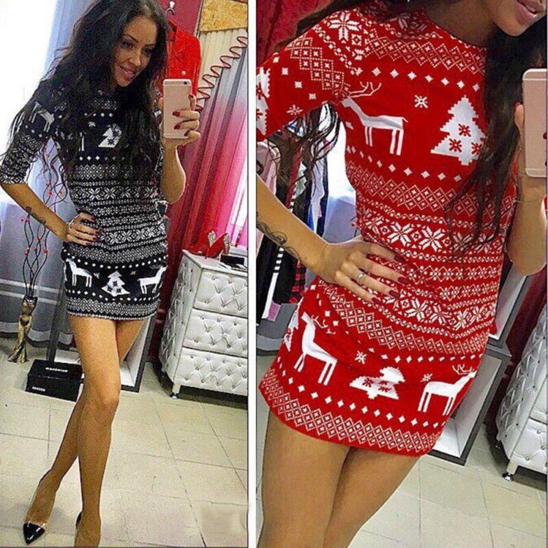 Dress - New Women Autumn Winter Long Sleeve Knit Bodycon Sweater Mini Dress Knitwear