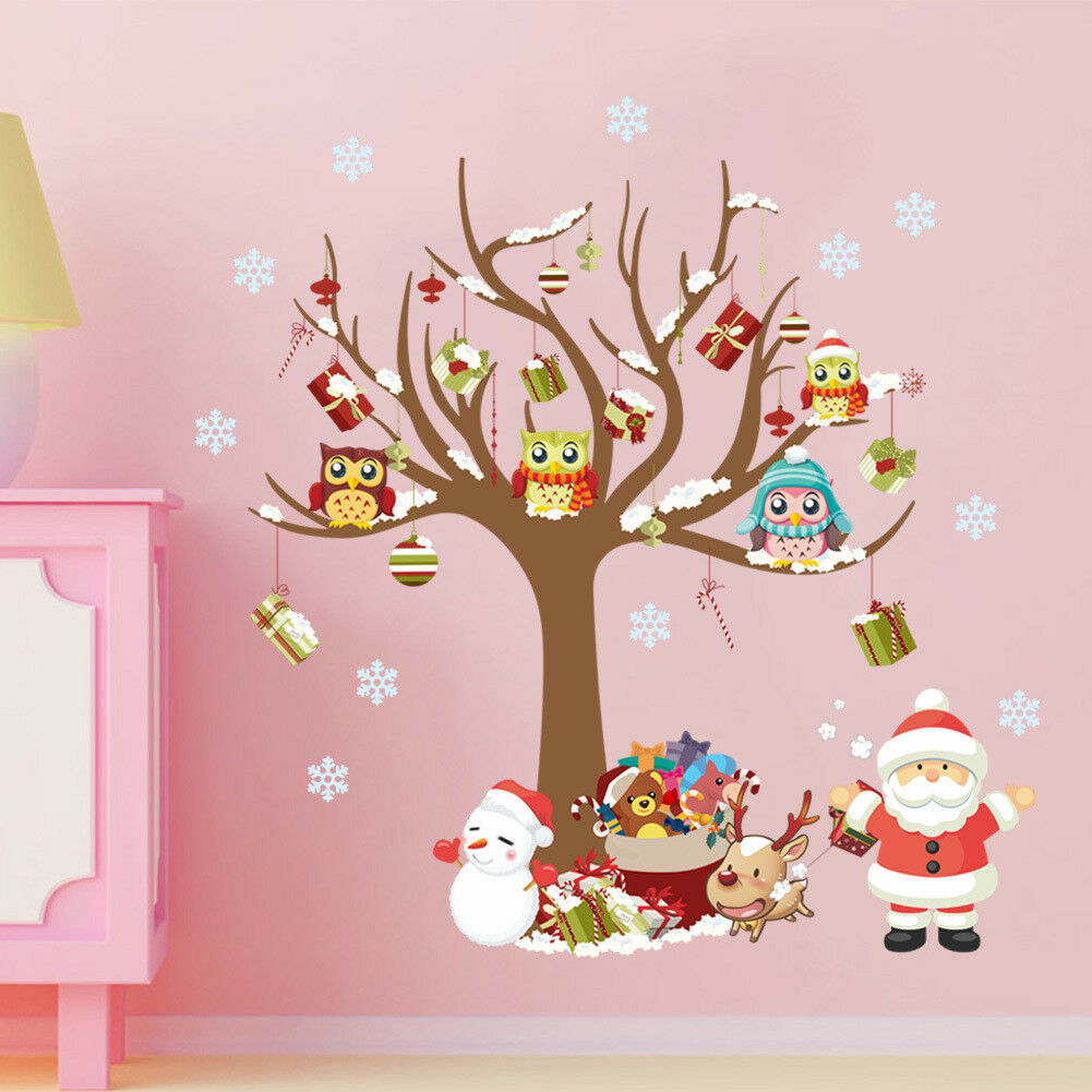 Home Decoration - Merry Christmas Santa Claus Window Wall Stickers Decal Home Decor