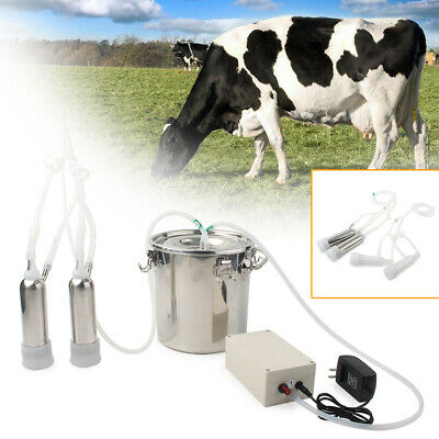 5l Electric Milking Machine Vacuum Impulse Pump For Cow Goat Milker Steel