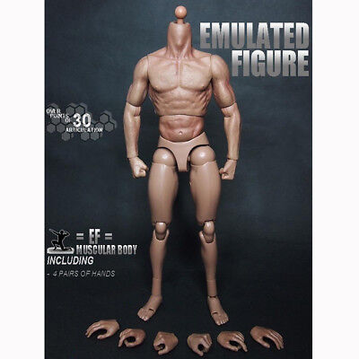 """New 12"""" Muscular Action Figure Body 1/6 Scale For 1/6 Scale Hot Toys Head Sculpt"""