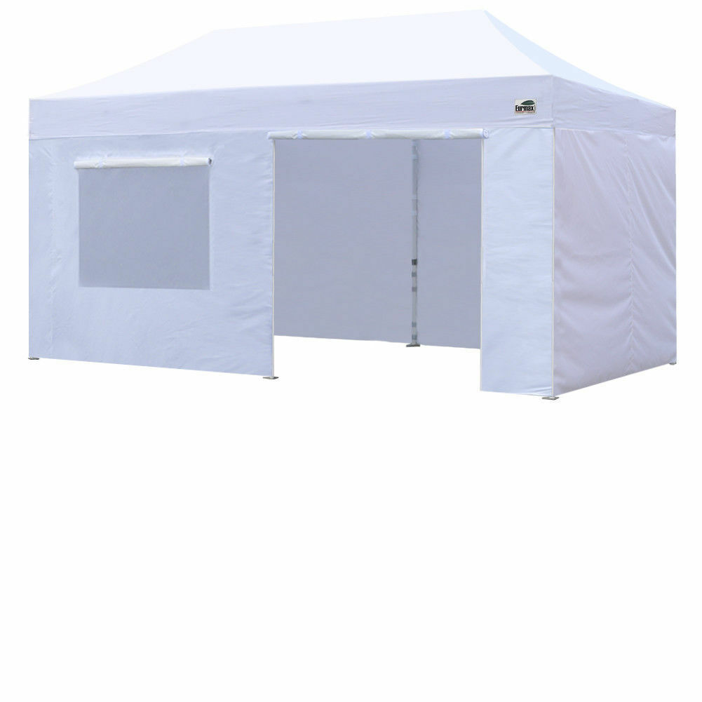 Stock photo  sc 1 st  eBay & Heavy Duty 10X20 White Pop Up Canopy Outdoor Marquee Tent Shade w/4 ...
