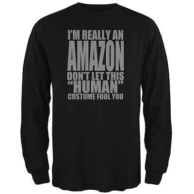 Halloween Human Amazon Costume Mens Long Sleeve T Shirt - Halloween T Shirts Amazon
