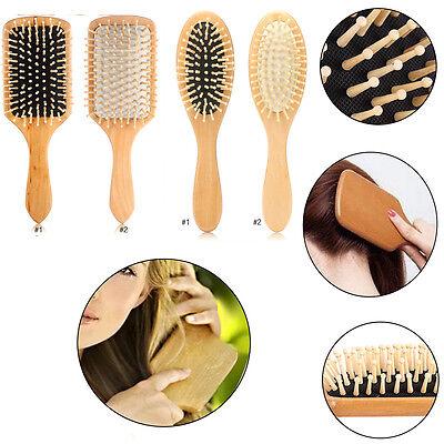 Anti Static Wooden Paddle Brush (Anti-Static Natural Wooden Massage Hairbrush Comb Scalp Health Care Paddle Brush )