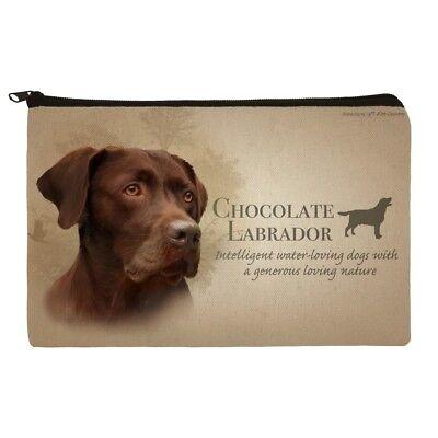 Chocolate Lab Labrador Dog Breed Makeup Cosmetic Bag Organizer Pouch