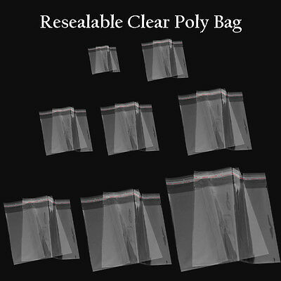 100 Bags Clear Poly Bags Large Small Plastic Packaging Resealable Cello Us
