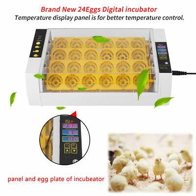 Automatic 24 Egg Incubators Hatcher Heater Turner for Quail Chicken Duck Machine
