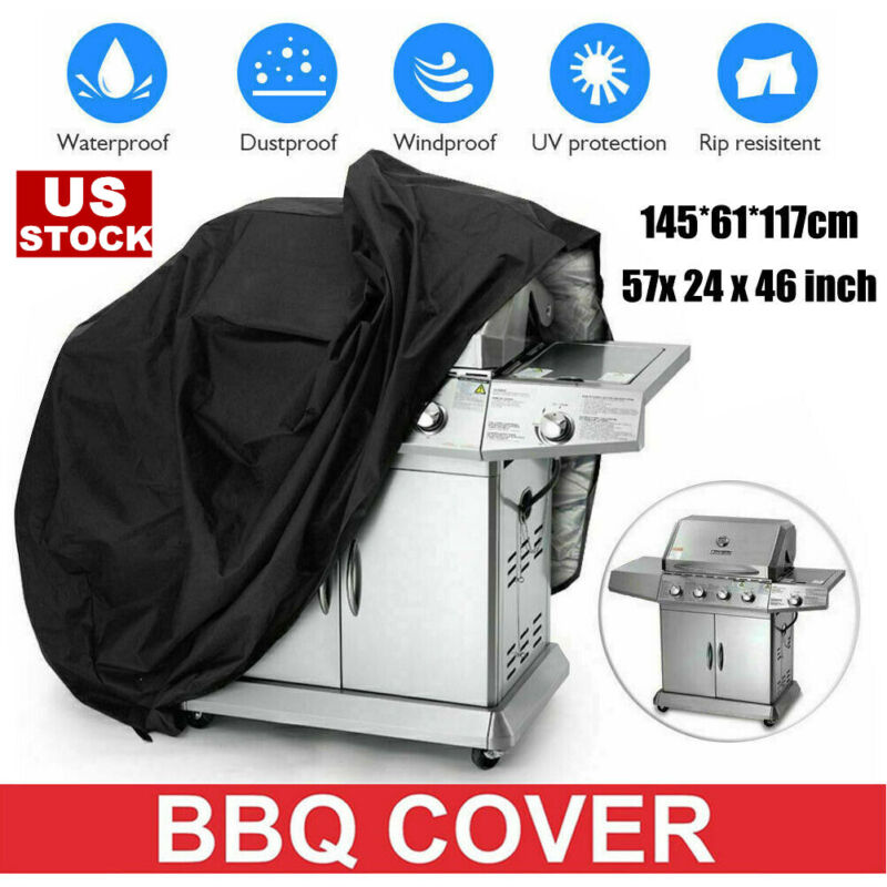 """57"""" Heavy Duty BBQ Gas Grill Cover Barbecue UV Waterproof Outdoor Protection"""