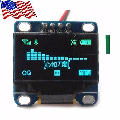 "DIYmall 0.96"" Blue 128X64 OLED I2C IIC Serial LCD LED Displa"