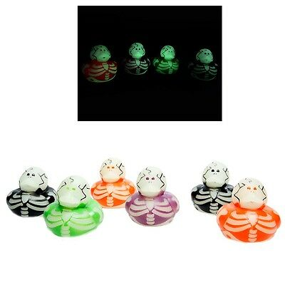 Glow In The Dark Skeleton Rubber Ducks for Halloween ()