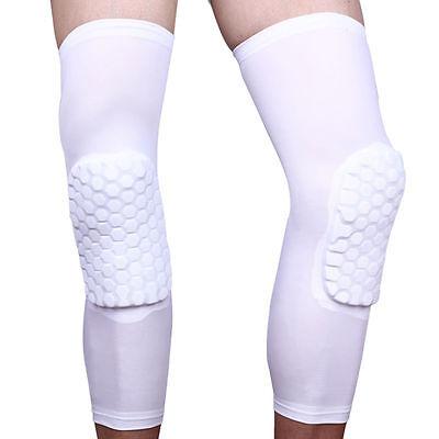 Basketball Crashproof Antislip Knee Leg Long Sleeve Protector Gear Honeycomb RF