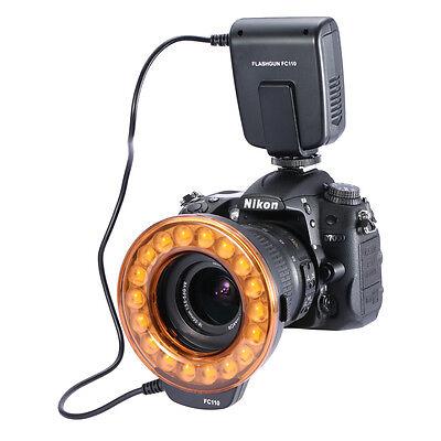Neewer FC-110 LED Macro Ring Flash fr Nikon D7000 D5200 D5100 D3200 D800 D600 US
