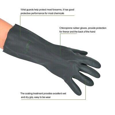 Chloroprene Rubber Anti-corrosion Work Gloves Acid Alkali Oil Resistant Gloves