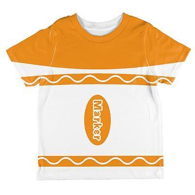 Halloween Marker Costume Orange All Over Toddler T Shirt
