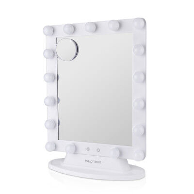 VIUGREUM Makeup Vanity Mirror with 17x LED Dimmer Table Lights Hollywood Style](Mirror Table)