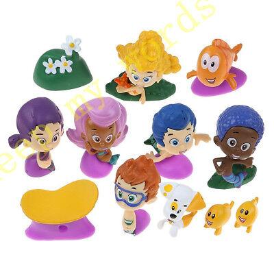 12 Pcs Cartoon Bubble Guppies Gil Molly Nonny Vinyl PVC Figure Toy Cake Topper  - Nonny Bubble Guppies