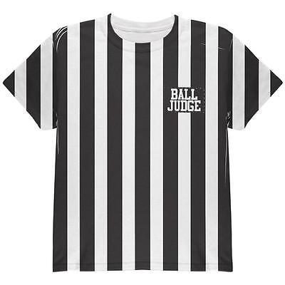 Kids Referee Shirt Halloween Costume (Halloween Deflategate Ball Referee Costume All Over Youth T)