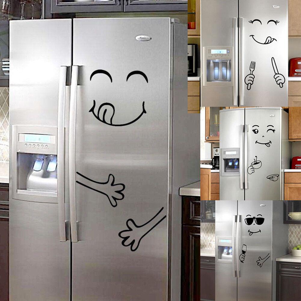 Nette Gesicht Kühlschrank Aufkleber Glücklich Sticker Küche Wandtattoo