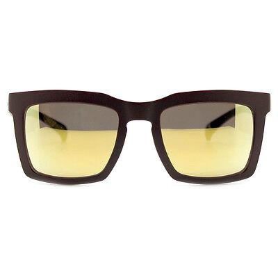 "NEW ADIDAS ORIGINALS Brown/Gold ""OVERSIZED"" Square Mirror Sunglasses -SALE"