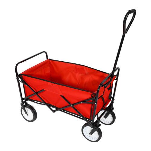 Four Wheeler Pulling Wagon : Xxl heavy duty folding garden trolley cart wagon wheel