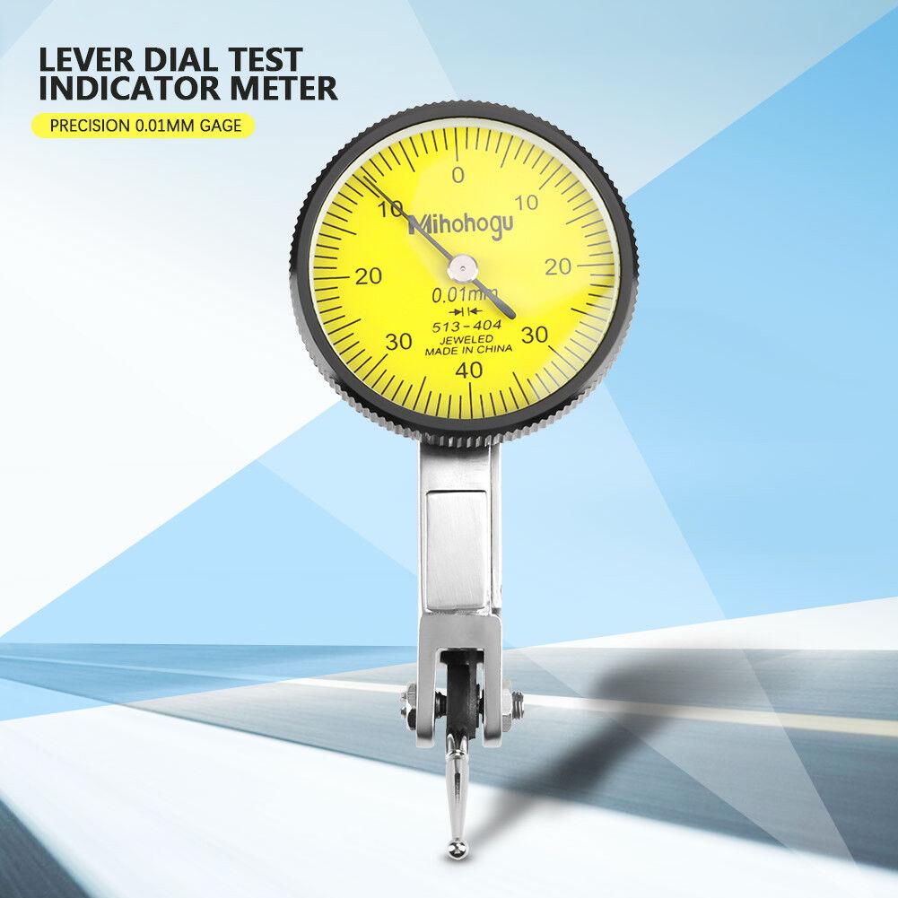 Precision Dial Test Indicator 0-0.8mmTester Gauge Lever Meter w//Molded Case Kits