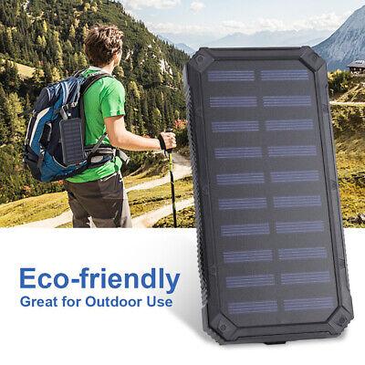 Portable Solar Power Panel (Solar Panel Power Bank USB 6Pcs LED 20000mAh Portable Battery Charger Waterproof)