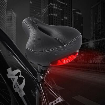 Ultralight Mountain Bike Bicycle Soft Seat Saddle with Tail Light Sporty Pad US ()