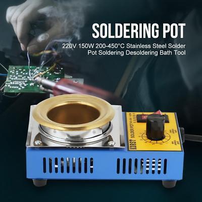 Solder Pot Soldering Desoldering Bath Titaniumplating 110220v 150w 200-450