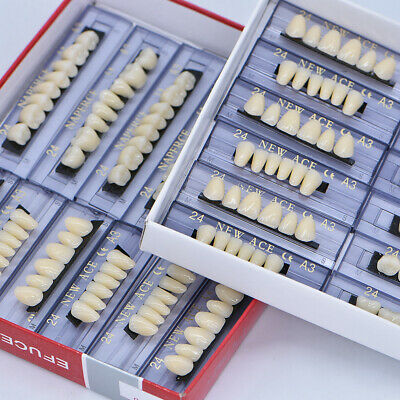 168pc Denture Acrylic Resin Full Set Teeth Upper Lower Size 24 Shade A3 Dental