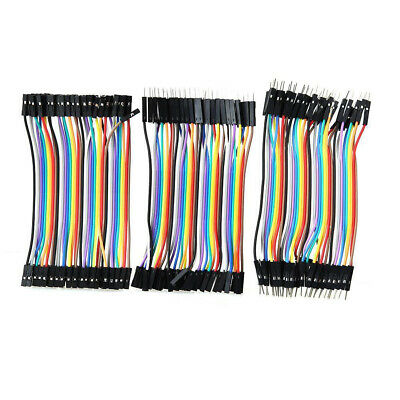 120xkit Male To Female Dupont Wire Jumper Cable For Arduino Breadboard Set