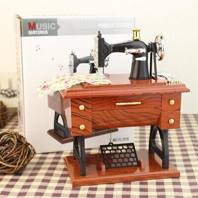 Music box Vintage Simulation Sewing Machine Retro Treadle Decoration Gift New