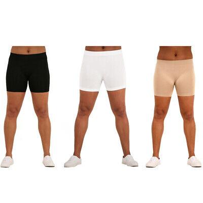 Womens Plus Size Seamless Stretch Under Shorts Spandex Boyshort Safety L XL 2X ()