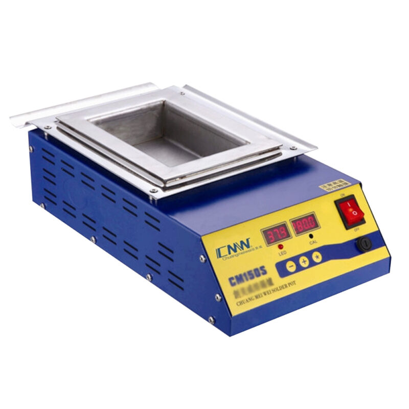 900W Digital Preheat Soldering Pot / Preheat Station Square Tin Pot 15*10cm 110V