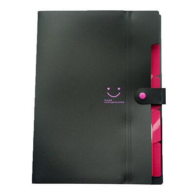 A4 Paper Expanding File Folder Pockets Accordion Document Organizer Black M5w5