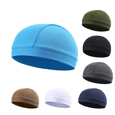 Unisex Sports Skull Cap Cycling Quick Dry Sweat Beanie Hat Helmet Liner Dome - Polyester Dome