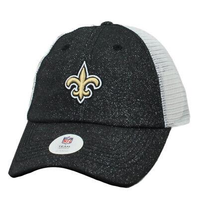 NFL New Orleans Saints Glitter Front Women Ladies Hat Cap Relaxed Mesh Snapback New Orleans Womens Cap