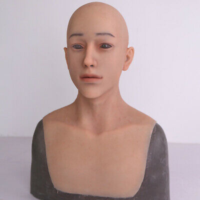 Silicone Man Mask Soft Silicone Mask For Halloween DQ Crossdressers Cosplay