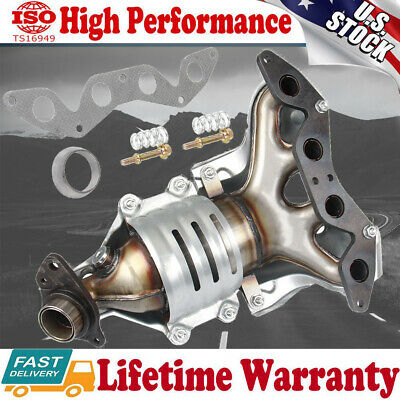 Exhaust Manifold with O2 Sensor Catalytic Converter For Honda Civic 01-05 1.7L