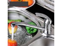 HUKA BRUSHED NICKEL EFFECT KITCHEN TOP LEVER Mixer tap