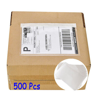 500 7.5 X 5.5 Clear Adhesive Packing List Pouches Shipping Label Envelopes Bag