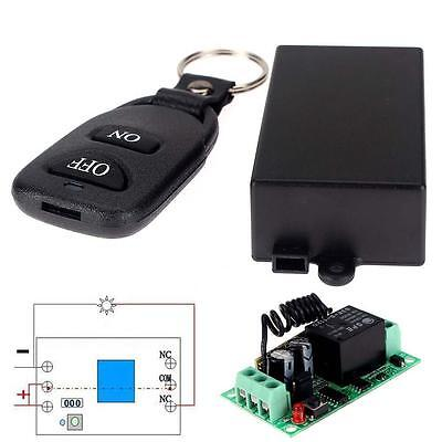 DC 12V 10A Relay 1CH Wireless RF Remote Control Switch Transmitter + Receiver RC