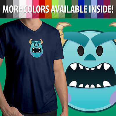 Sully Shirt Monsters Inc (Monsters Inc University Sulley Scary Mad Disney Sully Mens Tee V-Neck)