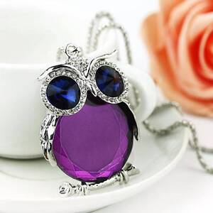 Silver and Purple Owl necklaces - New and tagged. Gateshead Lake Macquarie Area Preview