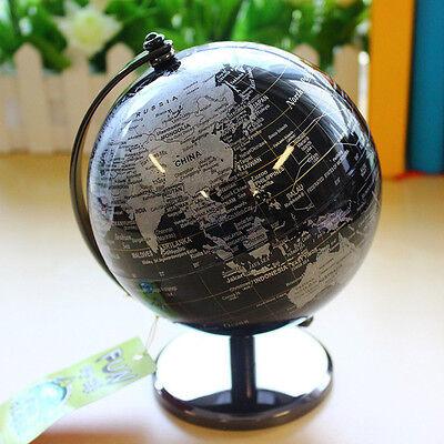black rotating world map globe geographical earth globe table desktop decorative - Decorative Globe