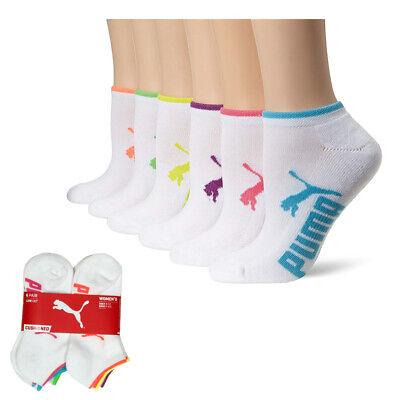 Puma Women's Half Terry Runner Socks 6-Pack, White Bright 9-11