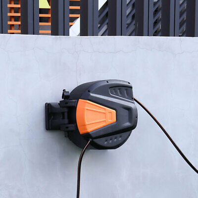 30m Outlet Garden Hose Reel Wall Mounted Retractable Auto Rewind Water Pipe New