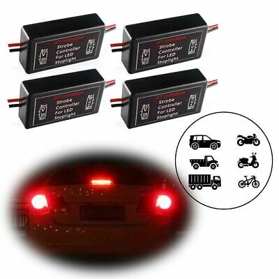 4x Flash Strobe Module Controller Flasher Box for 3rd Brake Stop Tail LED Lights